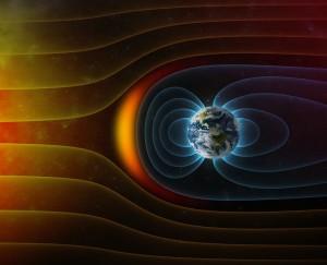 Magnetische velden beschermen de aarde tegen zonnewind