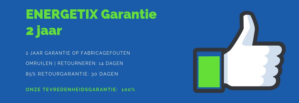 Dit is een banner inzake de Garantie ENERGETIX | 2 Jaar | ENERGETIX Nederland