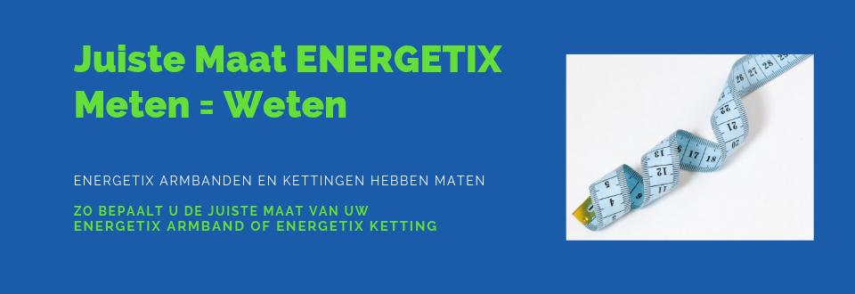 Afbeelding banner met informatie over de maten van de ENERGETIX Magneetarmbanden. De juiste Maat bepalen van uw ENERGETIX Armband doet u door de polsomvang in centimeters op te meten en daar hoort dan een bepaalde maat ENERGETIX Armband bij