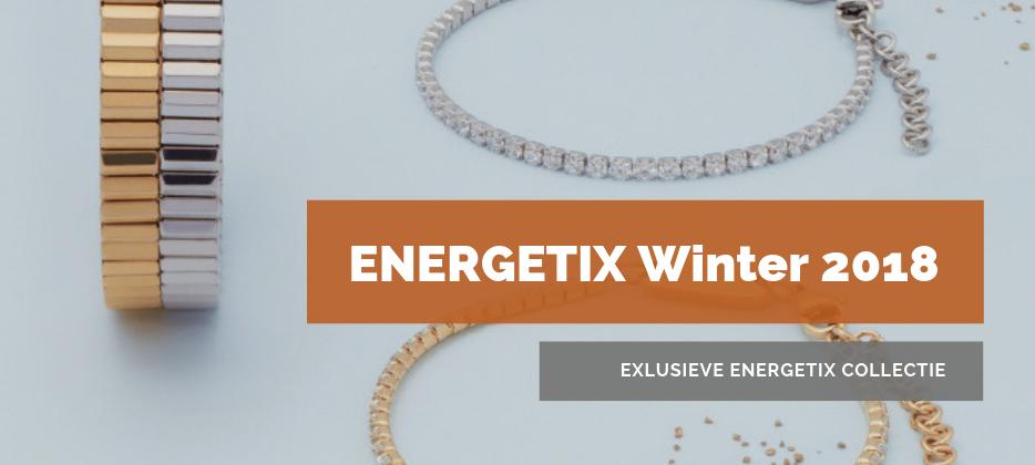 Afbeelding van een aantal exclusieve ENERGETIX Armbanden uit de nieuwe Kerst en Winter collectie 2018 - 2019