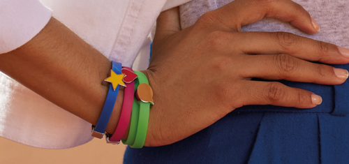 Afbeelding van ENERGETIX Sieraden voor Kinderen. Kleurrijke ENERGETIX Armband Kind met Magneetschuif