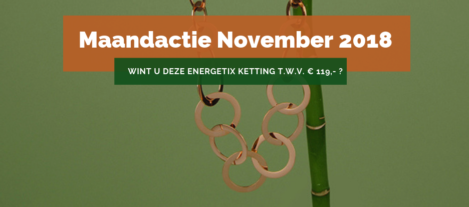 Afbeelding van een Roségouden ENERGETIX Halsketting met een waarde van € 119,-, die op 1 december 2018 verloot wordt onder de klanten van ENERGETIX Nederland in de ENERGETIX Actie November 2018