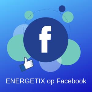 Afbeelding van Facebook Logo en Duim met het verzoek om ENERGETIX Nederland op Facebook te liken