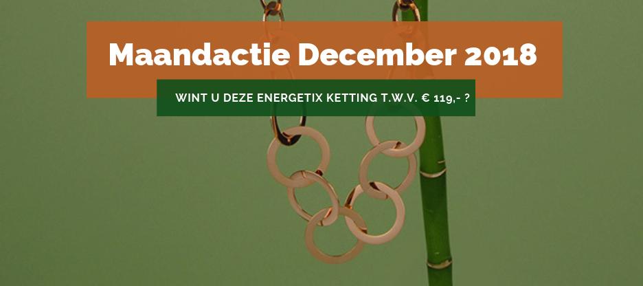 Afbeelding van een Roségouden ENERGETIX Halsketting met een waarde van € 119,-, die op 1 januari 2019 verloot wordt onder de klanten van ENERGETIX Nederland in de ENERGETIX Actie December 2018