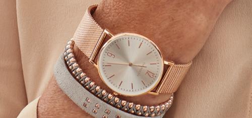 Afbeelding van een ENERGETIX Rosé Gouden Horloge met Magneten voor Dames met bijpassende Magnetische Armbanden van ENERGETIX